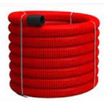 Poza cu Tub Flexibil PVC pereti dubli rosu 63mm, Tehnoworld