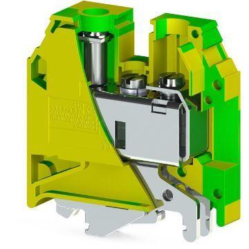 Poza cu Clema pe sina IMP.AVK 35T 35mmp galben-verde, Klemsan, IK622035-A