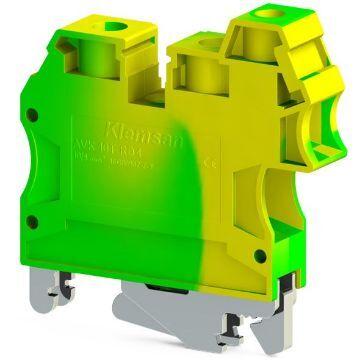 Poza cu Clema pe sina IMP.AVK 6/10T 6-10mmp galben-verde, Klemsan, IK622010