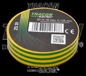 Poza cu Banda izolatoare Tracon 20M verde-galben