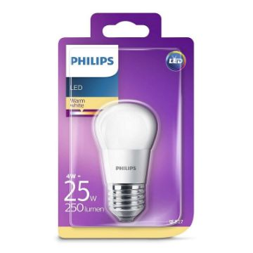 Picture of Bec LED Philips 4W E27 P45 2700K 250LM PS03091