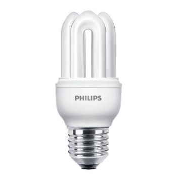 Poza cu Bec economic Philips Genie forma stick 8W E27 lumina rece 400LM