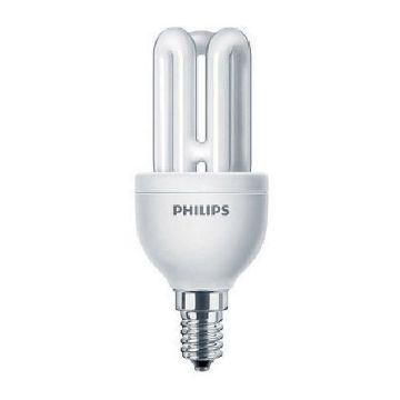 Poza cu Bec economic Philips MST Genie forma stick 8W, E14, lumina rece, 425LM