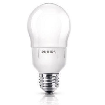 Poza cu Bec economic Philips PL-E Ambiance, forma clasica, E27, 9W, A60, lumina calda, 400LM