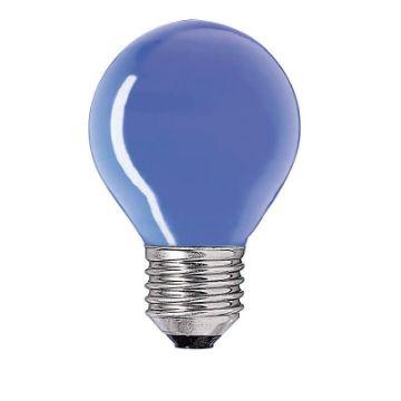 Poza cu Bec incandescent Philips Party 15W E27 P45, culoare albastra