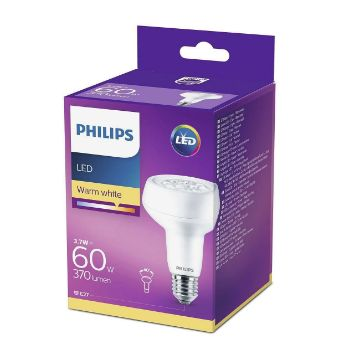 Picture of Bec LED Philips 3.7W E27 R80 lumina calda 370LM PS03285