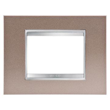 Poza cu Rama decorativa Gewiss Chorus Lux 3 module bronz perlat, GW16203MP
