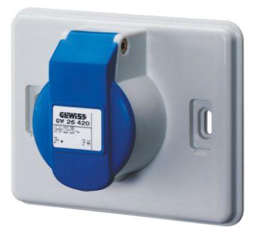 Picture of Priza industriala Gewiss 16A, 2P+E, 220V IEC309, IP44, GW26420