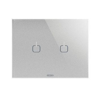 Poza cu Rama Gewiss Chorus Monochrome Ice Touch Titan 2 simboluri GW16952CT