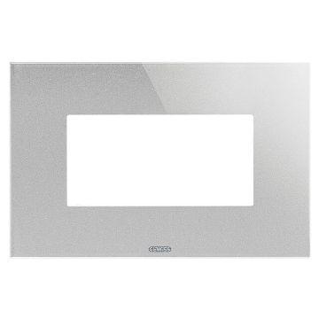 Poza cu Rama Gewiss Chorus Monochrome Ice Titan 4 module GW16904CT